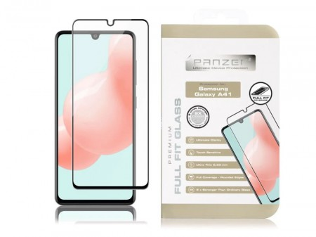 Panzer Full Fit Galaxy A41, Svart
